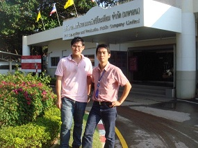 Mr Areeniyom from PTTEP(right) with Chen Fun Wee or TWI